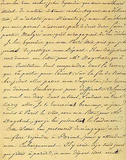 free Vintage Ephemera: French Script, 1816