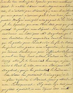 free Vintage Ephemera: French Script, 1816