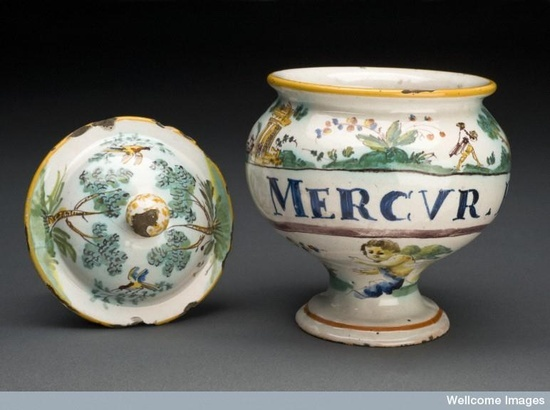 Image result for mercury apothecary jar 18th century