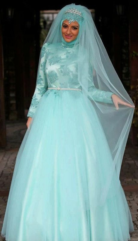 A Muslim wedding dress is basically based on personal preference and style. Description from kamdora.com. I searched for this on bing.com/images