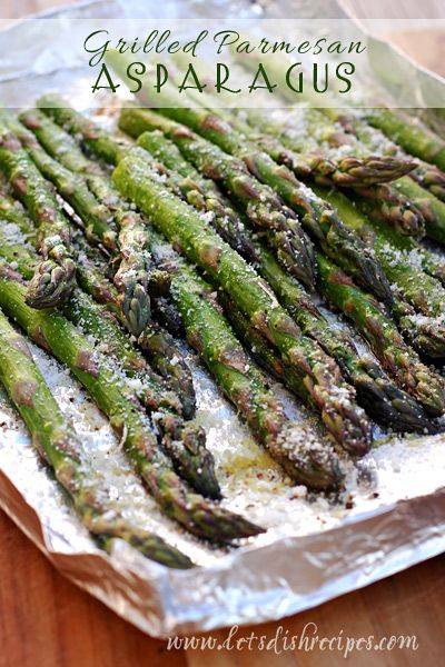 Grilled Parmesan Asparagus #recipe