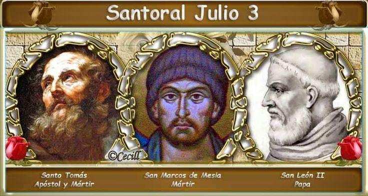 Vidas Santas: Santoral Julio 3