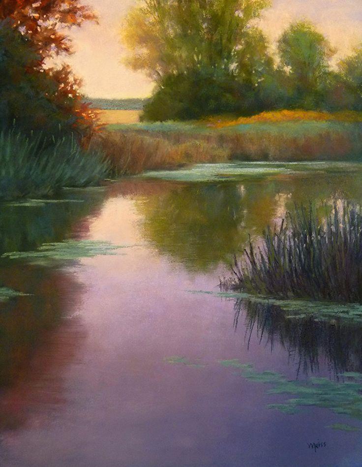 """Stillness Before Dusk"" by Adriana Meiss Pastel 20"" x 16"" ॐ}*{ॐ"
