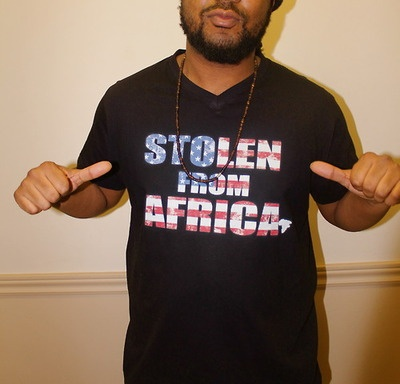 Stolen From Africa USA T-shirt! Black History Month 2013 Edition!!!   Order online here http://stolenfromafrica.bigcartel.com/product/stolen-from-africa-usa-t-shirt-men-s  Stolen From Africa Docu-Series (Teaser)  http://vimeo.com/36008492  This documentary follows the journey of two rappers from Toronto and Atlanta as they retrace actual slave trading routes. Even though they come from completely different worlds, they soon discover their shared history of being Stolen From Africa