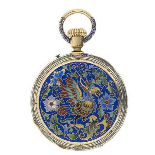 Antique Victorian Enameled Pocket Watch | From a unique collection of vintage pocket watches at http://www.1stdibs.com/jewelry/watches/pocket-watches/