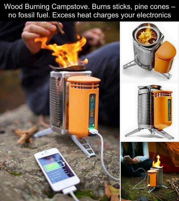 Wood Burning Camp Stove That Also Charges Electronics