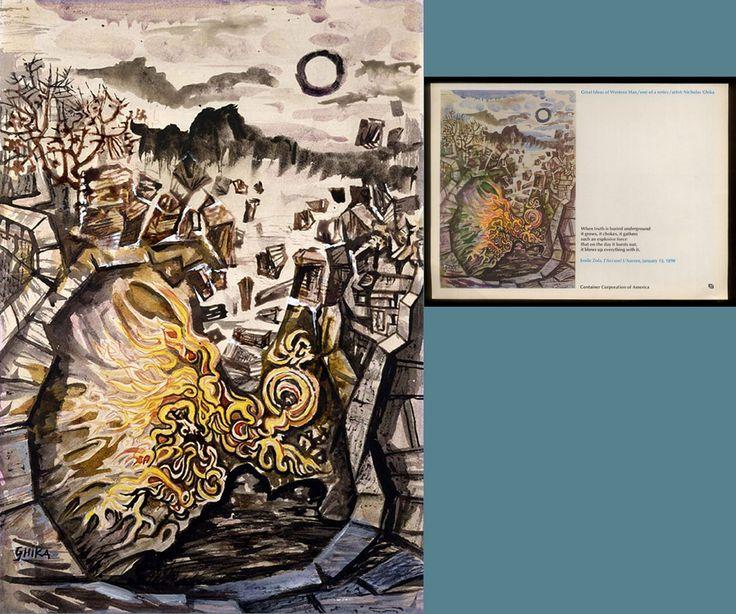 ΑJ'Accuse του Emile Zola, τυπωμένο έργο του νίκου Χατζηκυριάκου-Γκίκα για την Container Corporation of America (1964). Βλ. E-Bay και Ordinary finds. Πηγή: www.lifo.grφιέρωμα στο Νίκο Χατζηκυριάκο-Γκίκα. | ΣΑΝ ΣΗΜΕΡΑ | PLUS | Θέματα | LiFO