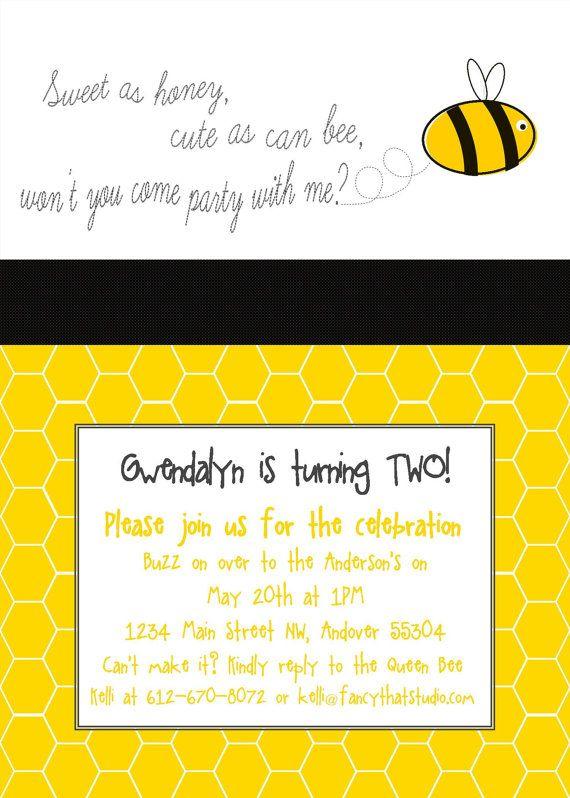 Bee Theme Birthday Party Printables