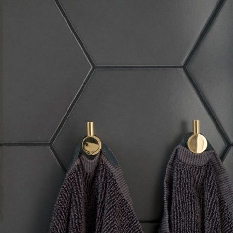 Klinker Hexagon Black 175x202 mm  - Golvpoolen