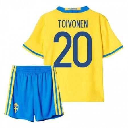 Sverige Trøje Børn 2016 #Toivonen 20 Hjemmebanesæt Kort ærmer.199,62KR.shirtshopservice@gmail.com