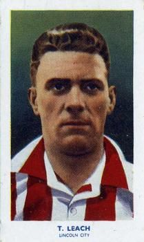1939 R & J Hill Famous Footballers Series 2 #72 Tony Leach Front