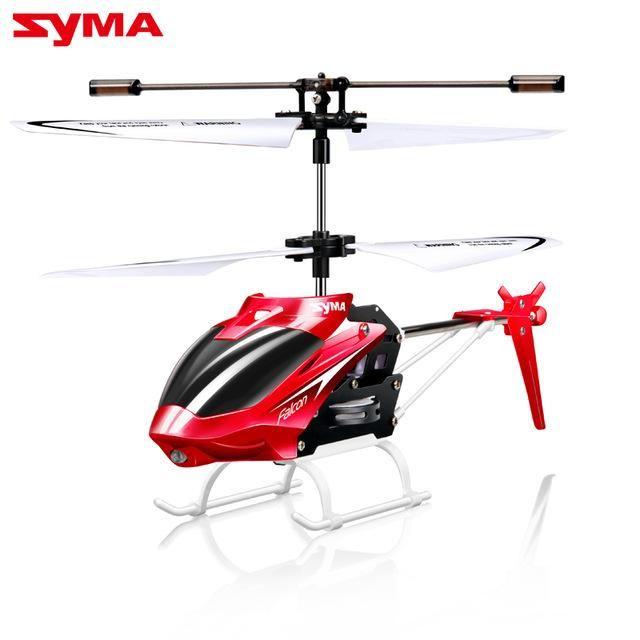 100 Original SYMA W25 2CH Indoor Small RC Electric Aluminium Alloy Drone Remote Control Helicopter