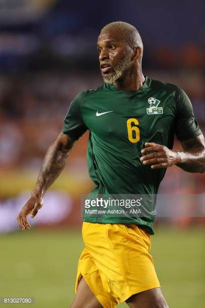 Kevin Rimane of French Guiana during the 2017 CONCACAF Gold Cup Group A match between Honduras and French Guiana at BBVA Compass Stadium on July 11...