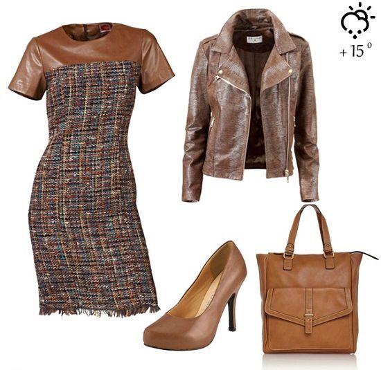 Платье с кожаными вставками: как выбирать и с чем носить? | Dolio.ru