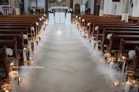 Znalezione obrazy dla zapytania dekoracja kościoła na ślub