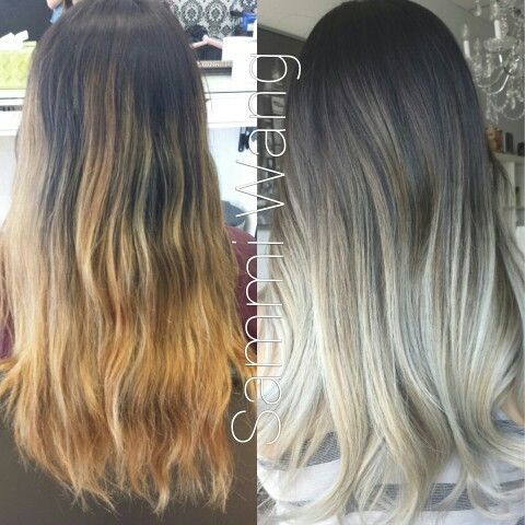 brown to silver ombre hair - Google Search