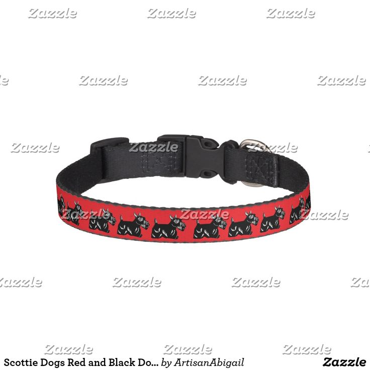 """Scottie Dogs Red and Black Dog Collar - small size:  .75"""" wide and adjustable from 12-16"""".  Black clasp clicks together.  AFFILIATE LINK"""