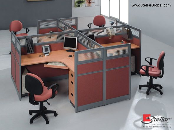Comfortable Workstation For A Collaborated Work.. Get More Designs For  #OfficeFurniture On Our