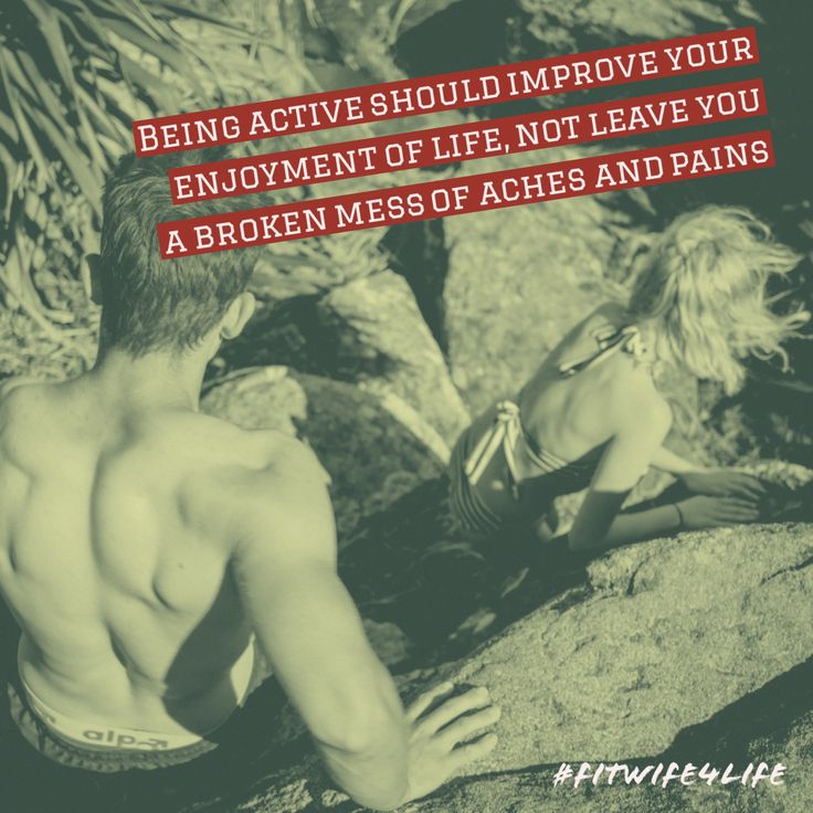 Being active should improve your enjoyment of life, not leave you a broken mess of aches and pains #fitlife #eatplaylove #happiness #bridalicious #fitwife4life @fitwife4life