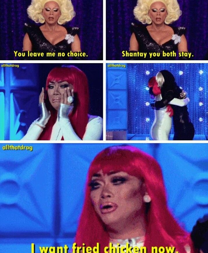 #JujuBe #RuPaulsDragRace I think EERRRRBODY wanted some #friedchicken  after this lip sync battle