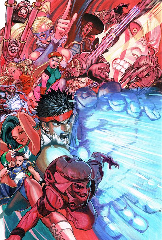 kinxsonic:  Street Fighter V illustration by Yusuke Murata