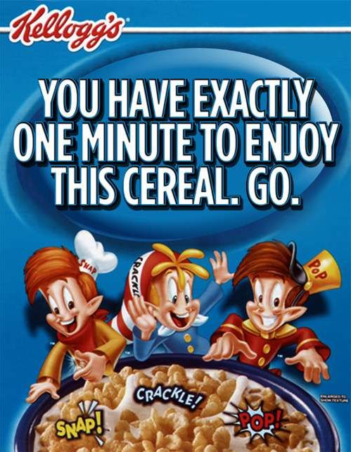 It's TRUE: you have less than 1 minute to eat Rice Krispies after you put the milk