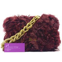 Model : Aigner Shoulder Bag Material : Fur With Inner Lambskin Hardware : Gold Color : Burgundy Measurement : L 25 X H 17 X W 4.5 cm Condition : Good