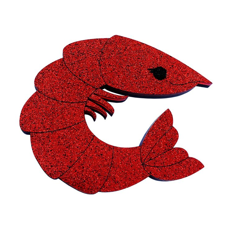 PERKY PRAWN PAM coat brooch by Louisa Camille