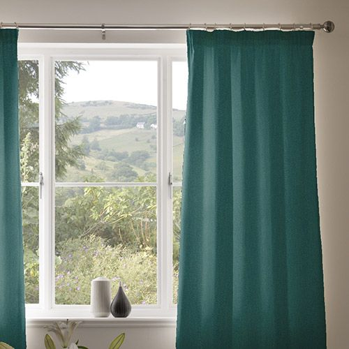 Curtain details for ARAGON NEW, TEAL | Next Made To Measure