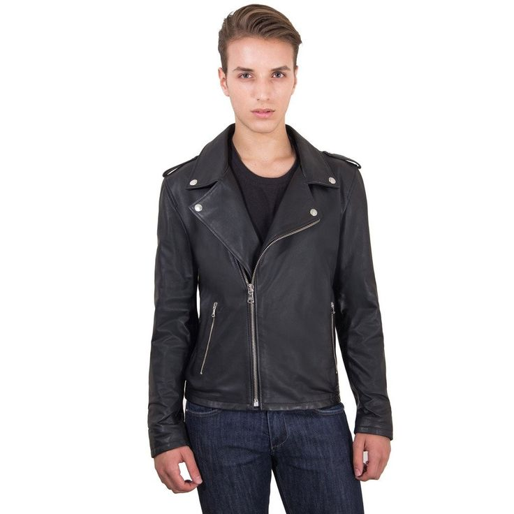 Men's Leather Biker Jacket black Perfecto | Made In Italy  #fashion #swag #style #stylish #socialenvy #PleaseForgiveMe #me #swagger #photooftheday #jacket #hair #pants #shirt #handsome #cool #polo #swagg #guy #boy #boys #man #model #tshirt #shoes #sneakers #styles #jeans #fresh #dope