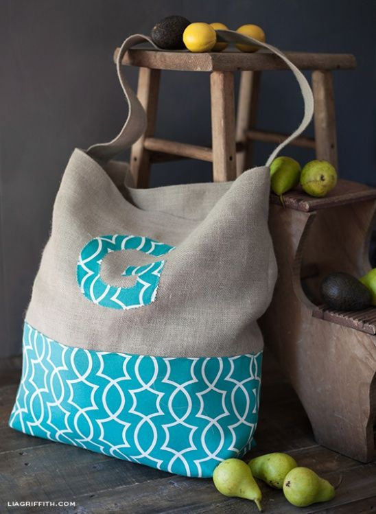 Monogrammed Jumbo Tote Bag by lia griffith   Project   Sewing / Bags & Purses   Kollabora #diy #kollabora #sewing #bag