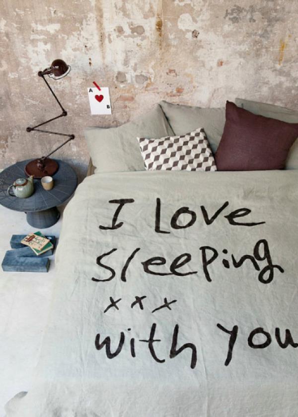 I love sleeping with you
