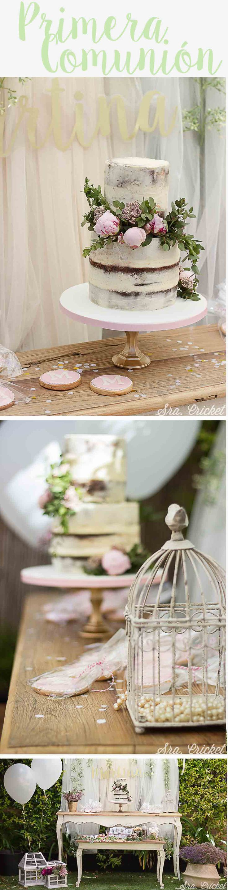 Primera comunión #firstcommunion #decoracionparacomunion #ideasparacomunion #nakedcake #comunion #partydecoration #party #communion #ideas #fiestadecomunion Party Decoration, Table Decorations, Mesa Candy Bar, Cupcake Cookies, Cupcakes, Fitness And Beauty Tips, Muffin Bread, Diy Pins, First Communion