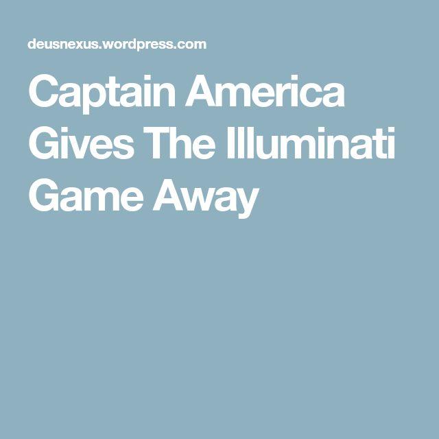 Captain America Gives The Illuminati Game Away