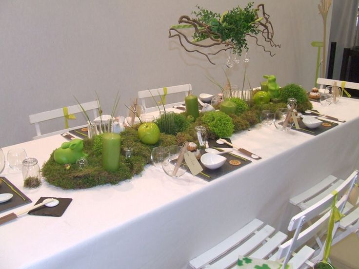 Deco De Table Theme Nature