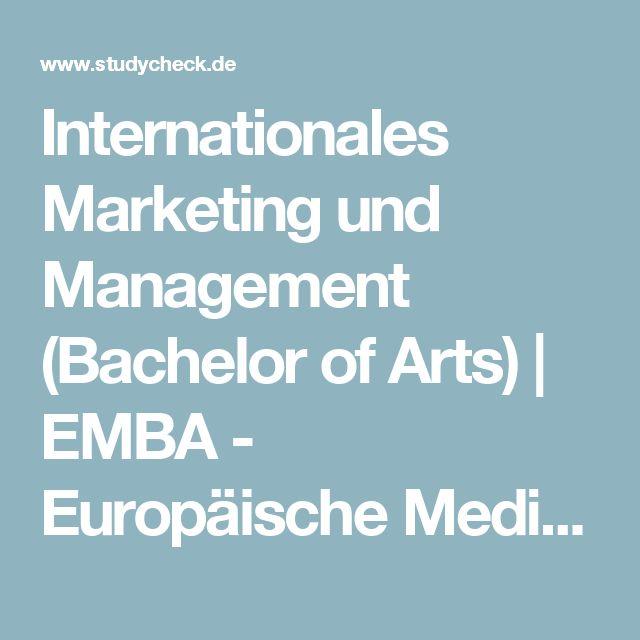 Internationales Marketing und Management (Bachelor of Arts) | EMBA - Europäische Medien- und Business-Akademie