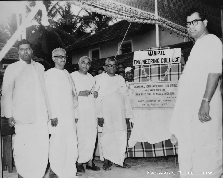Manipal Engineering College (Now known as Manipal Institute of Technology) opened on 11th May 1957 by the Chief Minister of Mysore.