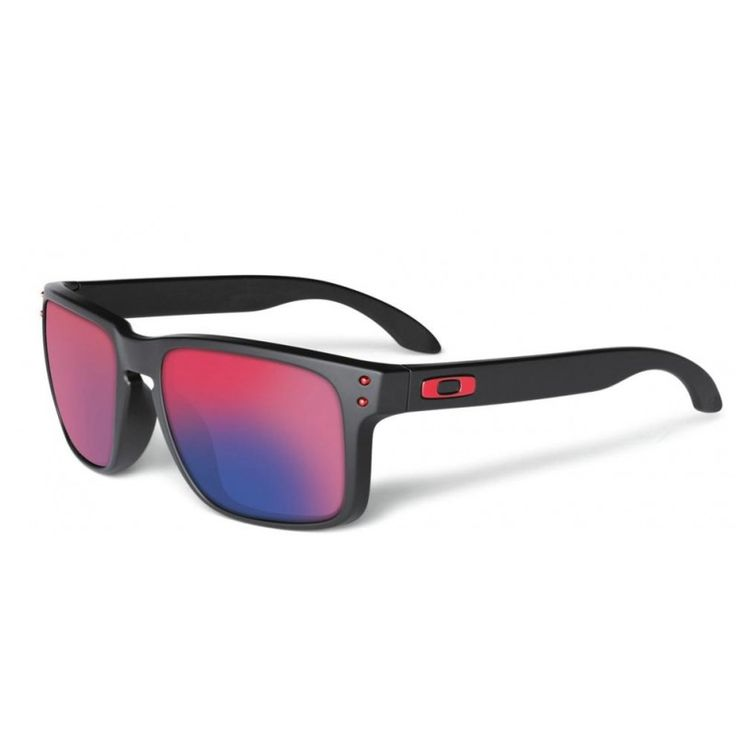 25a165716e037 LENTES OAKLEY HOLBROOK Matte Black-Positive Red Iridium