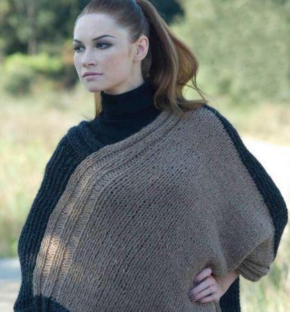 Poncho a maglia
