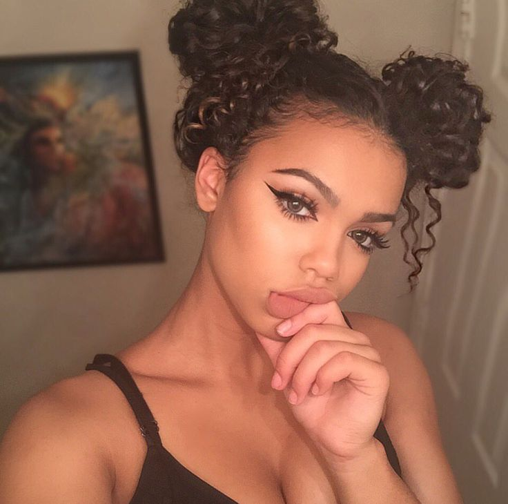 Bun Hairstyles For Curly Hair : 661 best images about curly hair styles on pinterest