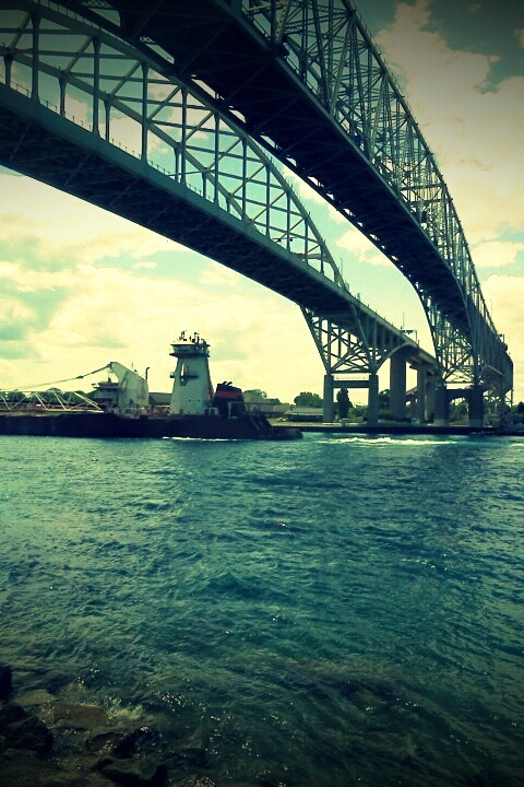 Bridge to the US, Sarnia/Port Huron (c) Mercedes Déziel-Hupé  **If you repin, please be respectful and keep my photo cred. Thank you.**