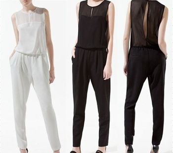 20$ http://www.aliexpress.com/item/Novelty-Chiffon-Jumpsuit-Women-2013-Fitness-White-Black-Overalls-Female-Shoping-Arrivals-See-through-Blouse-Tops/839595593.html