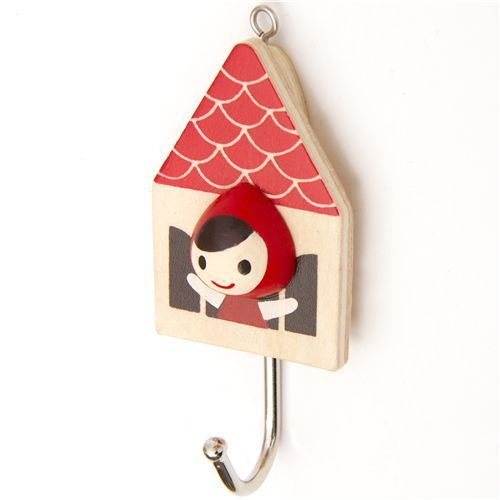 17 beste afbeeldingen over little red riding hood op Cute coat hooks