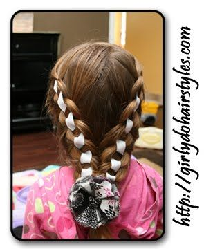 Girly Do Hairstyles: By Jenn: Ribbon Braid