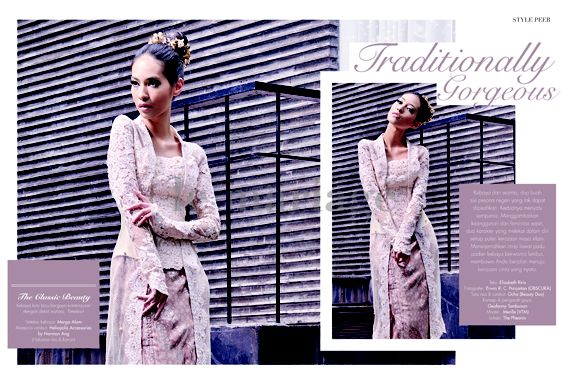 Traditionally Gorgeous. Photographer: Erwin R. C. Panjaitan (OBSCURA). Make Up & Hair Do: Ocha (Beauty Duo). Stylist: Geofanny Tambunan. Model: Merille (VTM). Lokasi: The Phoenix. Kebaya: Marga Alam. Hairpiece: Heliopolis Accessories by Norman Ang. #leMariage #Magazine #Wedding #Indonesia #Style