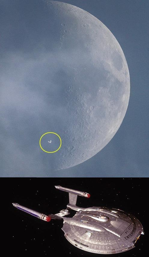 달 앞 지나가는 '스타트렉' 우주선 정체는? | Daum 미디어다음