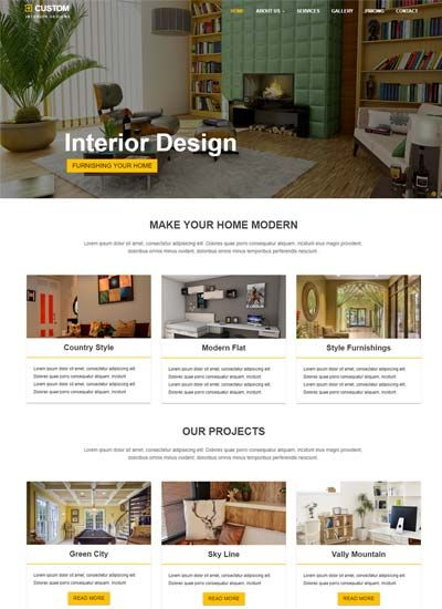 Best Interior Design Website Template | free codes & tips ...