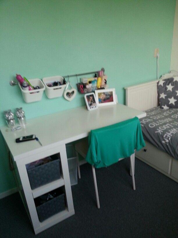 Echte meidenkamer home pinterest slaapkamer bureaus en meisjeskamer - Kleur kinderen slaapkamer ...