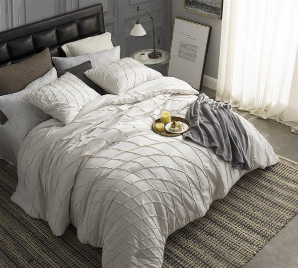 Ridout Twist Texture Comforter Bed Linens Luxury Dorm Bedding