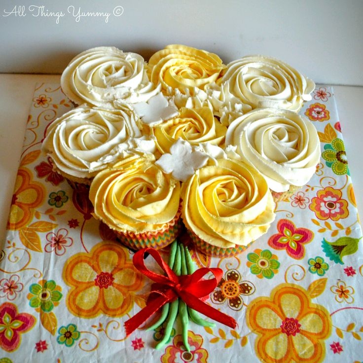 Mother's Day - All Things Yummy | With Mother's day around the corner, All Things Yummy presents to you a number of desserts that you could give your mother starting with the Cupcake Bouquet! #lemoncake #buttercream #cupcake #bouquet #allthingsyummy
